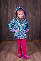 Куртка на флисе  для девочки осень-весна  р.110-146 МАЛОМЕРИТ