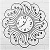 """Настенные часы из металла и стекла """"Цветок жизни"""" дизайнерские"""