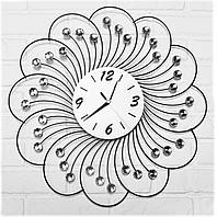 """Настенные часы из металла и стекла """"Цветок жизни"""""""