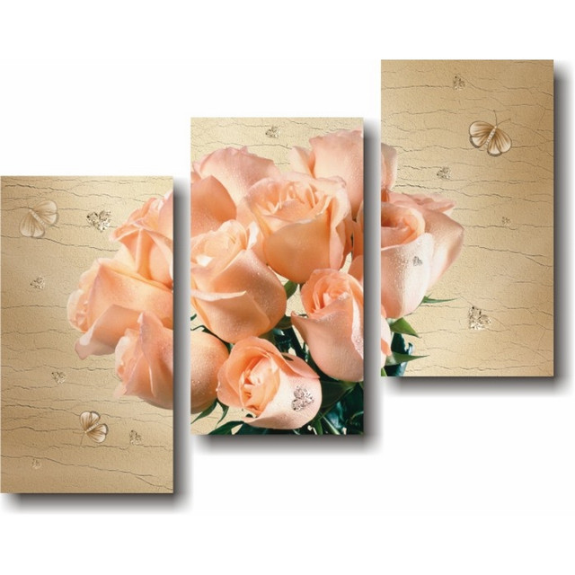 купить модульную картину с розами в Киеве
