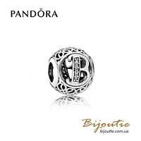 Pandora Шарм БУКВА В #791846CZ серебро 925 Пандора оригинал