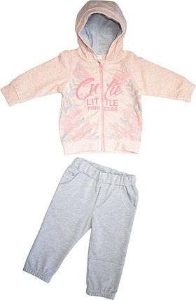 Костюм спортивный для девочки хлопковый,размер 80,86, фото 2