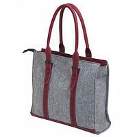 """Жіноча сумка з фетру """"Roots"""" сумка ручної роботи від української майстерні PalMar, сумка з войлока, фото 1"""