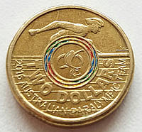 Австралия 2 доллара 2016 - XV летние Паралимпийские игры, Рио-де-Жанейро 2016