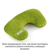 Подушка подголовник зеленый флок с лого OKKO
