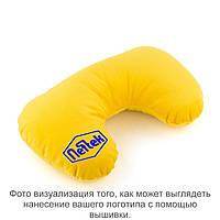Подушка подголовник желтый флок с лого Neftek
