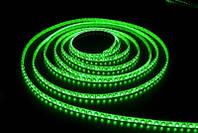 Светодиодная лента зеленый SMD 3528 120 диодов на метр IP65 герметичная (в силиконе)