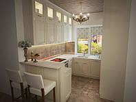 Встроенная кухня в классическом стиле