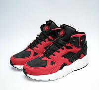 Зимние кроссовки мужские Huarache Winter Shoes Red/Black