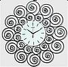 Настенные часы металлические, Завиток