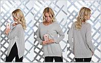 Стильный удлиненный женский свитер туника юр-1011