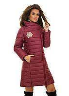 Теплая куртка с высоким воротом