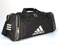 Сумка дорожня (50*25*22 см) в стилі Adidas чорно-сіра, фото 1