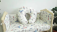 """Подушка для кормления младенца 90/90 """"Паруса"""""""