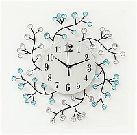 Настенные часы со стразами, бесшумный ход стрелок металлические дизайнерские