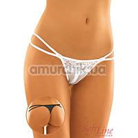 Трусики-стринги женские String белые (модель 2304)