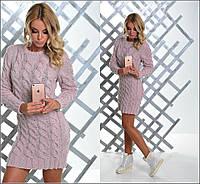 Красивый вязаный женский свитер туника юр-1012-2