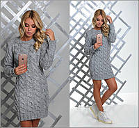 Красивый вязаный женский свитер туника юр-1012-4