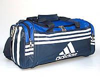 Сумка дорожная (45*22*20 см) в стиле Adidas сине-голубая, фото 1