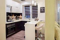 Встроенная угловая кухня с барной стойкой, фото 1