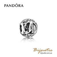 Pandora Шарм БУКВА А #791845CZ серебро 925 Пандора оригинал