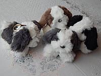 Брелок пушистая меховая собачка разные цвета символ года, фото 1