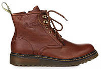 """Мужские ботинки Dr. Martens Zip Boots """"Brown"""" (Доктор Мартинс) коричневые"""