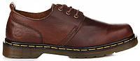 Мужские туфли Dr. Martens Oxford Low Leather Brown (Доктор Мартинс) коричневые