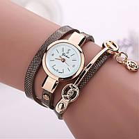 Женские часы-браслет на длинном ремешке (коричневые)