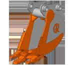RB (Ripping Bucket) – ковш-рыхлитель.  Назначение ковша: применяется для работы с высокопрочными грунтами с большим количеством каменистых включений и вечномёрзлыми грунтами.  Виды разрабатываемых горных пород: все разновидности уплотнённых грунтов и почв.  Особенности конструкции ковша:   усиленные боковые зубья и бокорезы;  наличие специального ребра жесткости по центру ковша, который совмещён с центральным зубом увеличенного размера для облегчения проникновения ковша в разрабатываемый материал.