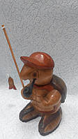 Статуэтка Черепаха рыбак деревянная размер 24*12*10