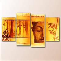 "Модульная картина ""Бамбук. Будда"""