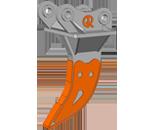 RT (Ripping Tooth) — однозубый рыхлитель (клык рыхлитель).  Назначение ковша: демонтаж сооружений, вскрытие дорожного покрытия, корчевка деревьев и пней, удаление рельс с ж/д полотна, срыв бордюров и т.д.  Виды разрабатываемых горных пород: сцементированные и уплотнённые грунты, твёрдые горные породы, спрессованный строительный мусор и т.д.  Особенности конструкции ковша:   для изготовления ковша применяется высокопрочная абразивостойкая сталь.