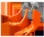 MRT (Multi Ripping Tooth) — рыхлитель с несколькими зубами.  Назначение ковша: рыхление вечномерзлых и особо плотных грунтов.  Виды разрабатываемых горных пород: сцементированные и уплотнённые грунты, твёрдые горные породы, спрессованный строительный мусор и т.д.  Особенности конструкции ковша:   данный мульти-рыхлитель может быть выполнен в виде нескольких сочленённых одинарных рыхлителей, на которых установлены коронки с раздвоенными концевиками, или в виде ковша с диагональной кромкой расположенной под углом к горизонтальной проекции.