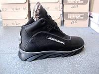 Зимние высокие кожаные мужские кроссовки - ботинки