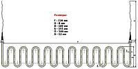 ТЭН 3000Вт, 220В для промышлленного водонагревателя, со штуцерами М14 и гибкими проводами, нерж., Lr=4300мм
