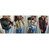 Куртка женская кожзам демисезонная Французское кружево, модные куртки