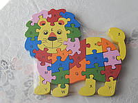 Детский деревянные пазлы-конструктор разные виды, фото 1