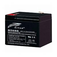 Аккумуляторная батарея AGM RITAR RT650, 6V 5Ah  (70х47х107 мм) Q20