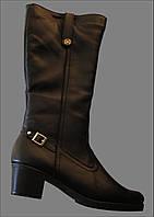 Женские зимние кожаные сапоги Л - 23С