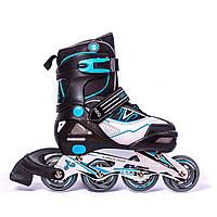 Раздвижные роликовые коньки - Flash Blue. Размеры:29-32, 31-34.