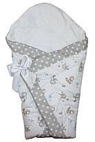 Теплый конверт Одеяло для девочек и мальчиков зима 90х90см Птички