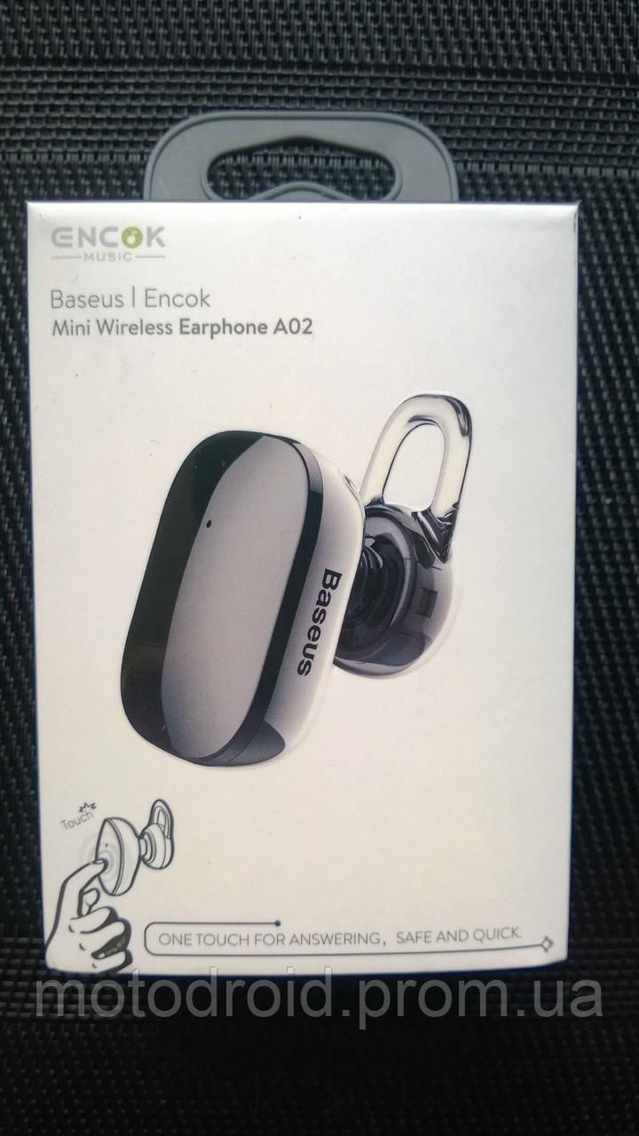 Блютуз гарнітура Baseus Encok A02