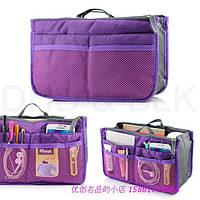 Женская косметичка фиолетовая вместительная