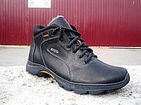 Мужские кожаные зимние ботинки ЕССО, фото 1