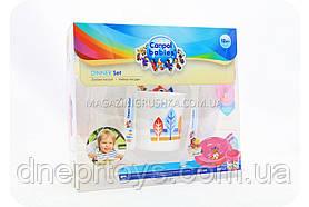 Набір посуду пластиковий для малюків - Сови, 2 види
