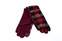 Женские перчатки красные трикотаж  S, M, L