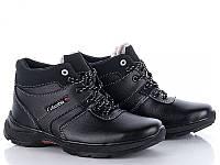 Подростковые зимние ботинки черного цвета эко кожа реплика Columbia Коламбия