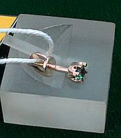 Серьга-винтик на закрутке, гвоздик, пуссета Золото от Производителя