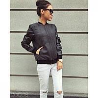 Куртка женская из твида и эко-кожи Шейли, модные куртки